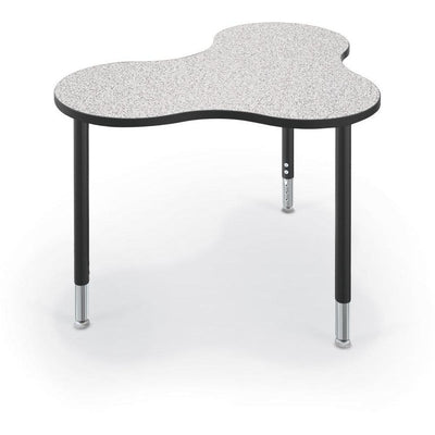 Hierarchy Cloud 9 Desk and Table-School Furniture-Small-Grey Nebula with Black Edgeband-
