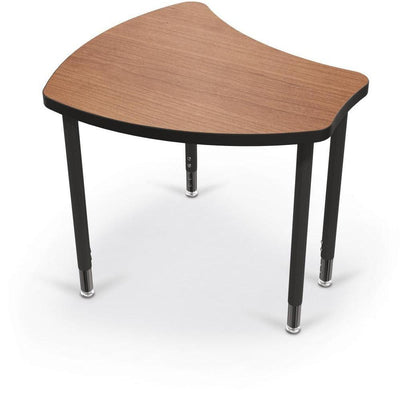 Hierarchy Shapes Desk-Large-Amber Cherry with Black Edgeband-