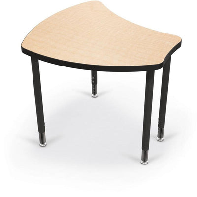 Hierarchy Shapes Desk-Large-Fusion Maple with Black Edgeband-