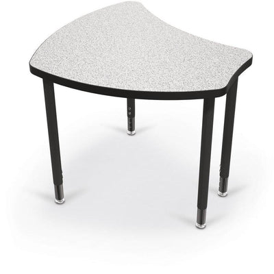 Hierarchy Shapes Desk-Large-Grey Nebula with Black Edgeband-