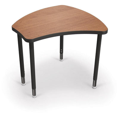Hierarchy Shapes Desk-Small-Amber Cherry with Black Edgeband-