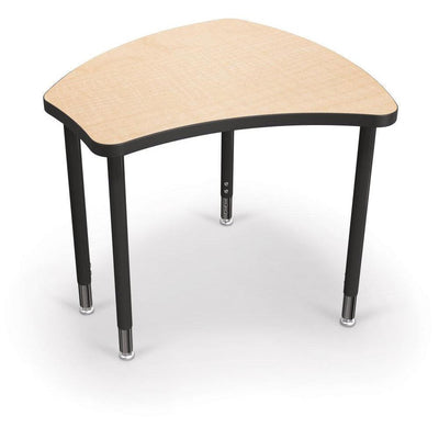 Hierarchy Shapes Desk-Small-Fusion Maple with Black Edgeband-