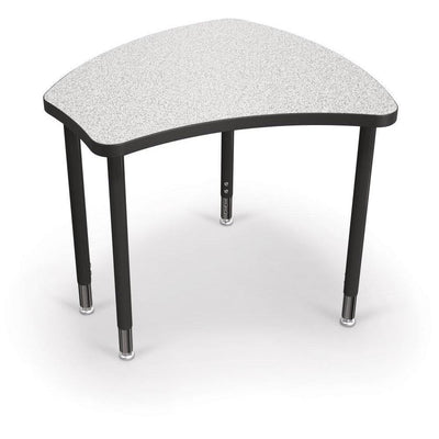 Hierarchy Shapes Desk-Small-Grey Nebula with Black Edgeband-