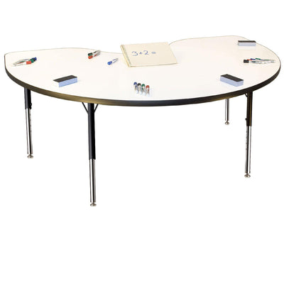 "Imagination Stations Activity Tables with Markerboard Tops-Tables-36"" x 72"" Kidney-20.5"" - 29.5"", Adj.-"