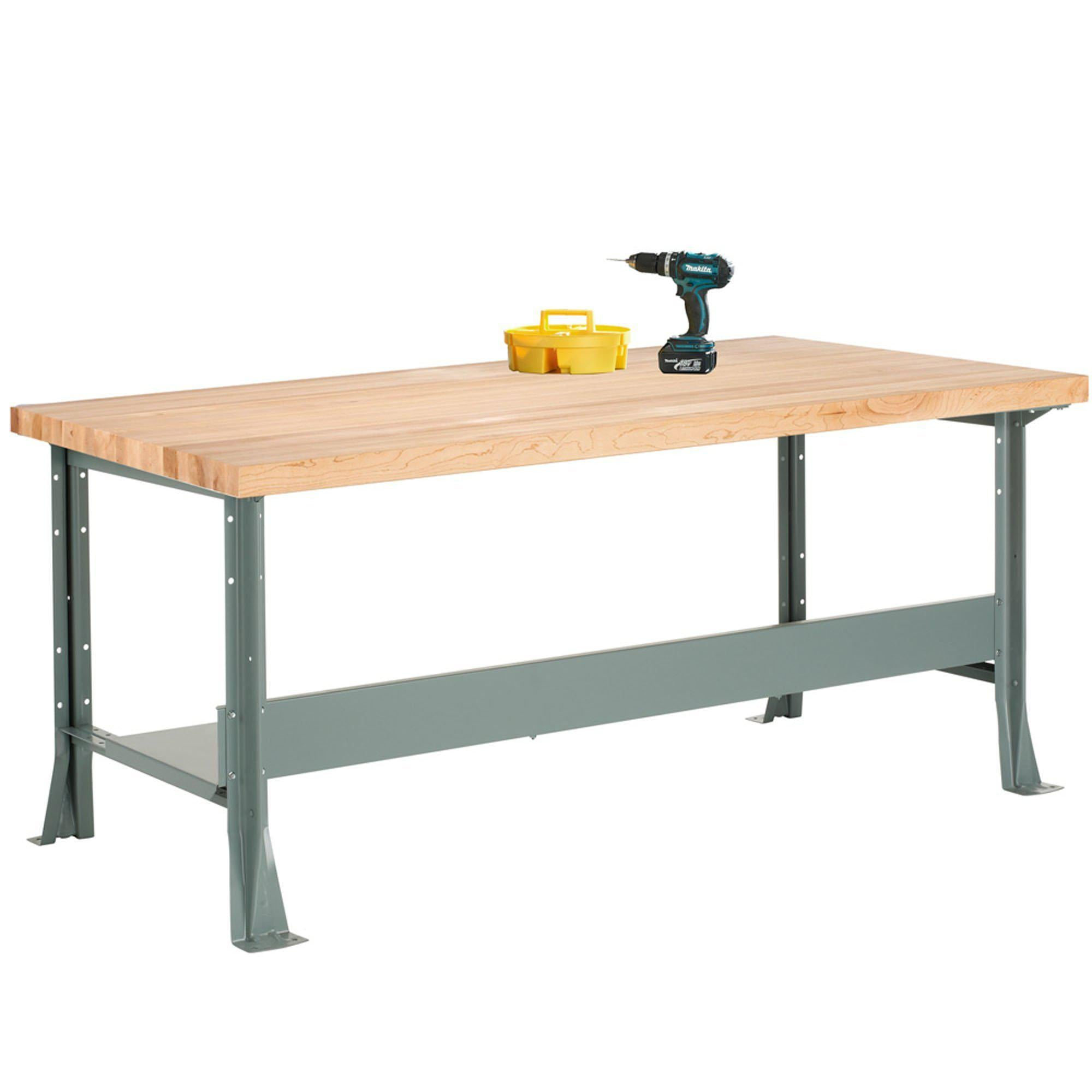 Industrial Steel Workbench-