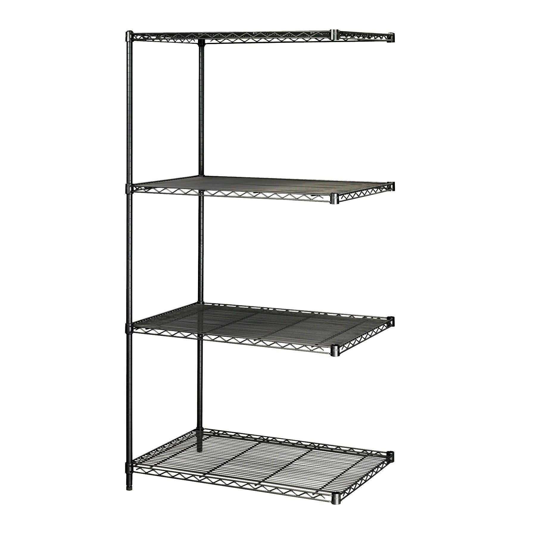 Industrial Wire Shelving Add-On Unit, 24 x 36""