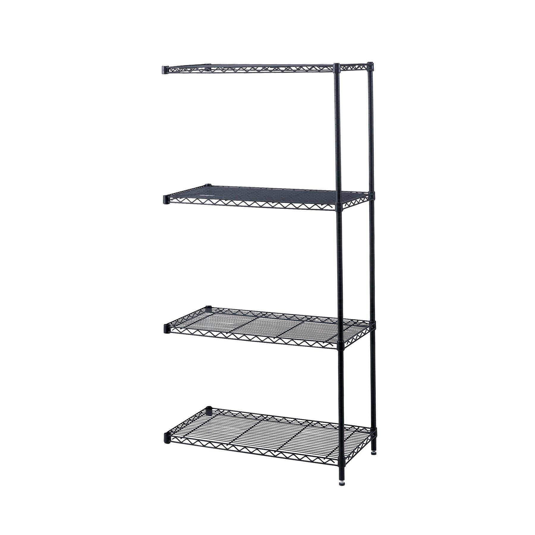 Industrial Wire Shelving Add-On Unit, 48 x 18""