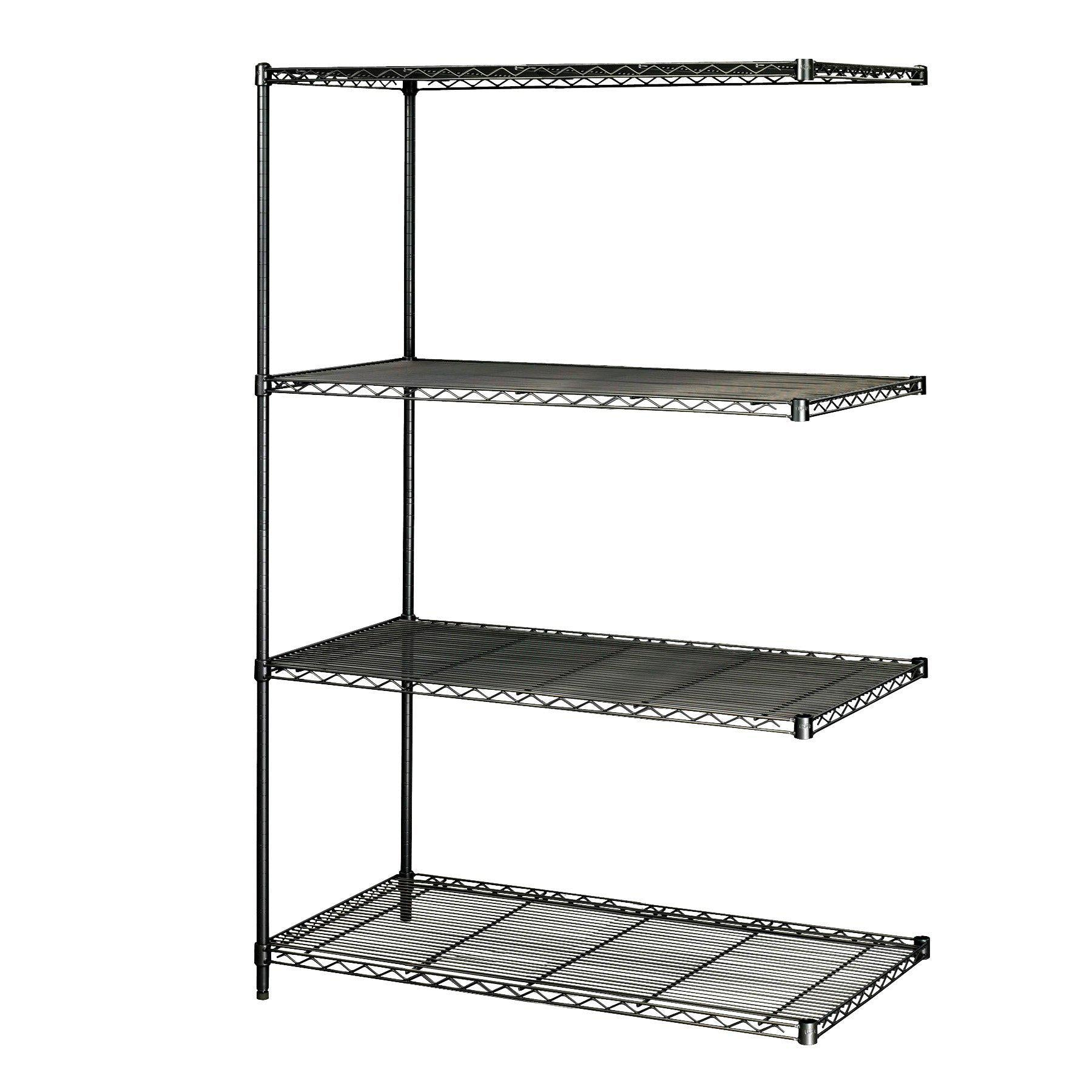 Industrial Wire Shelving Add-On Unit, 48 x 24""