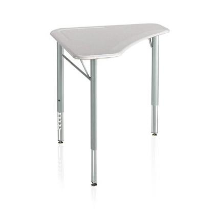 Intellect Wave Adjustable-Height Tripod Desk with Hard Plastic Linear Top-Desks-