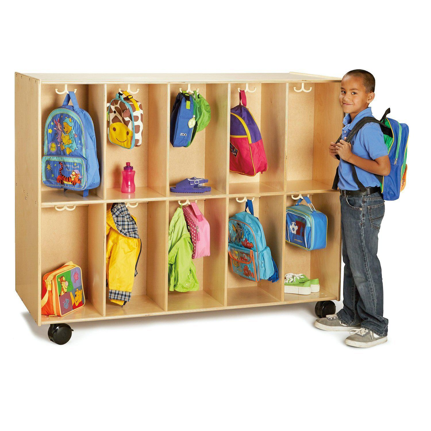 Jonti-Craft® 20-Section Mobile Backpack Cubbie-Pre-School Furniture-