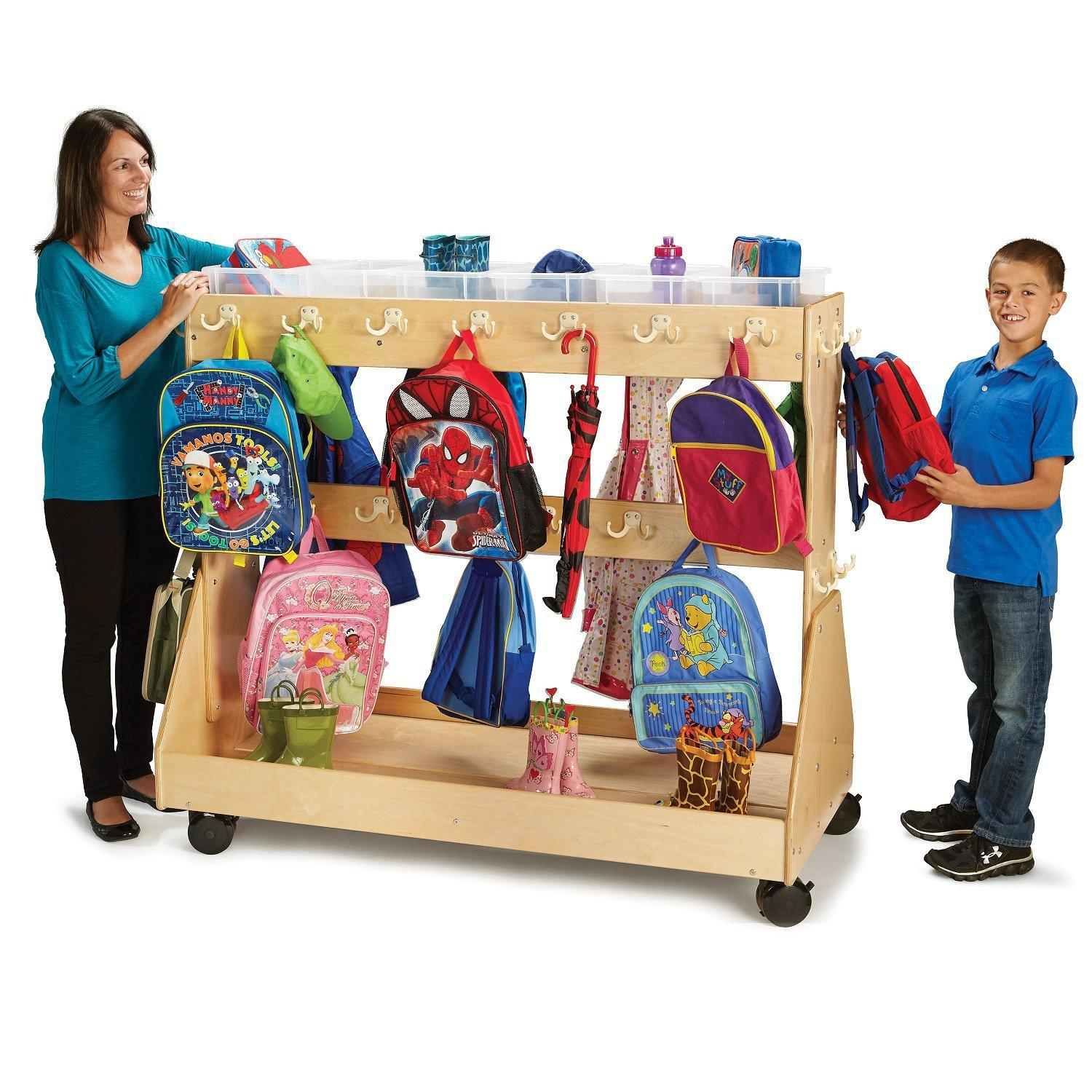 Jonti-Craft® Mobile Backpack Cart-Pre-School Furniture-
