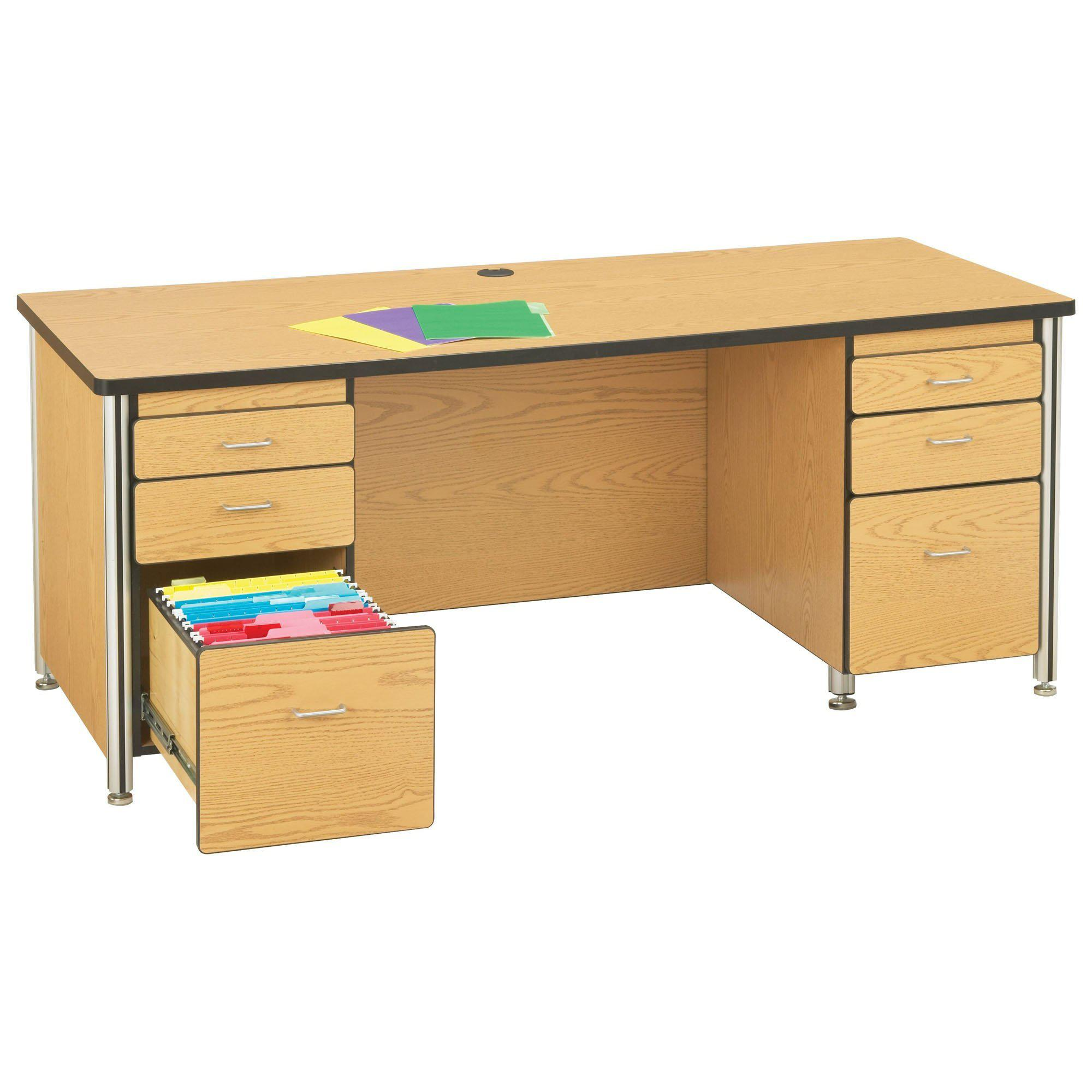Jonti-Craft® Wood Teachers' Desk-Desks-