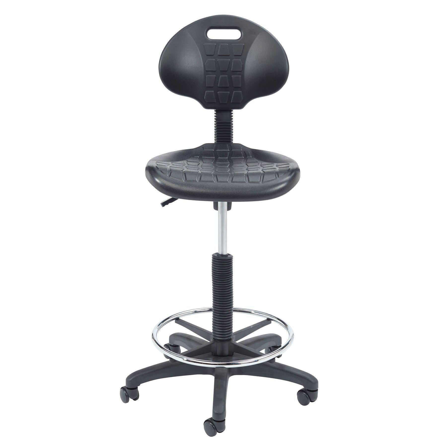 Kangaroo Stool, Polyurethane Seat and Backrest, Black-Stools-