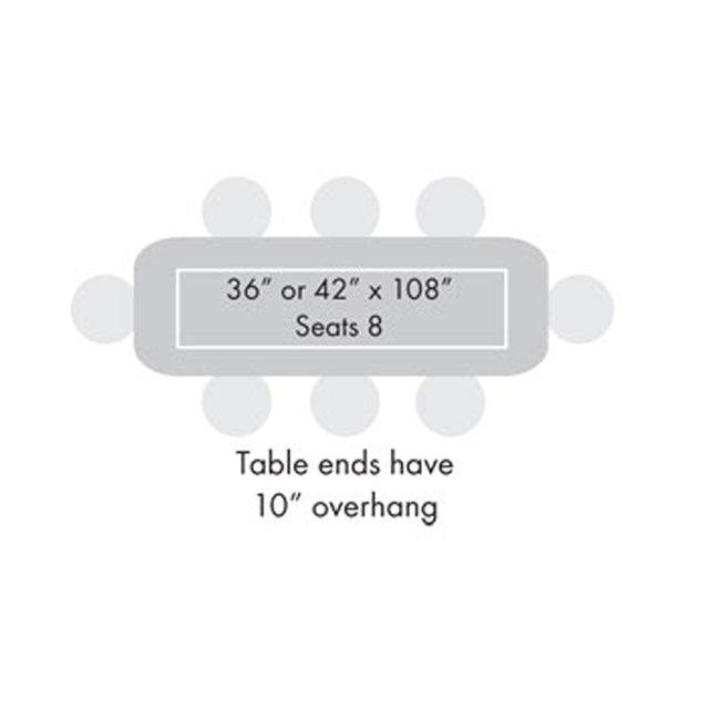 "Midtown Dry Erase Table, Counter Height, 42"" x 108"" x 36""H, High Pressure Laminate Top, 3mm PVC Edge, 96"" Base"