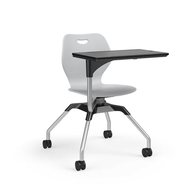 Learn2 Wave Mobile Chair with Black Worksurface-Chairs-Cool Grey (PCG)-Starlight Silver Metallic (SX)-No