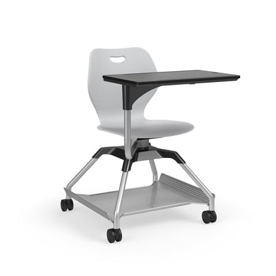 Learn2 Wave Mobile Chair with Black Worksurface-Chairs-Cool Grey (PCG)-Starlight Silver Metallic (SX)-Yes