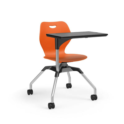 Learn2 Wave Mobile Chair with Black Worksurface-Chairs-Nemo (PNE)-Starlight Silver Metallic (SX)-No
