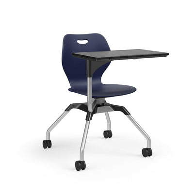 Learn2 Wave Mobile Chair with Black Worksurface-Chairs-Nordic (PND)-Starlight Silver Metallic (SX)-No