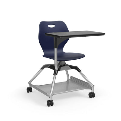 Learn2 Wave Mobile Chair with Black Worksurface-Chairs-Nordic (PND)-Starlight Silver Metallic (SX)-Yes