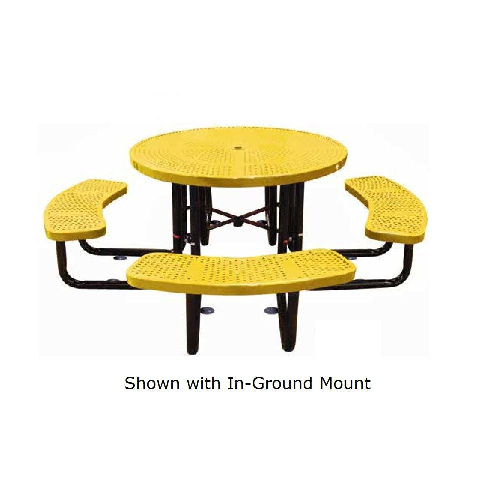 46˝ Round Perforated In Ground Table