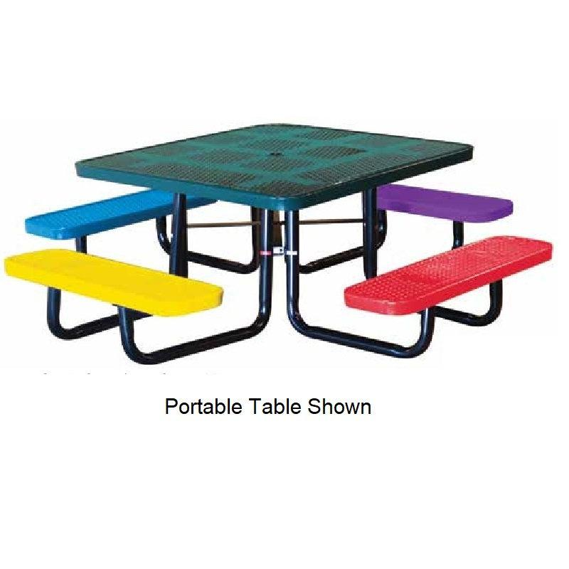 46˝ Square Children's Perforated Table, In Ground