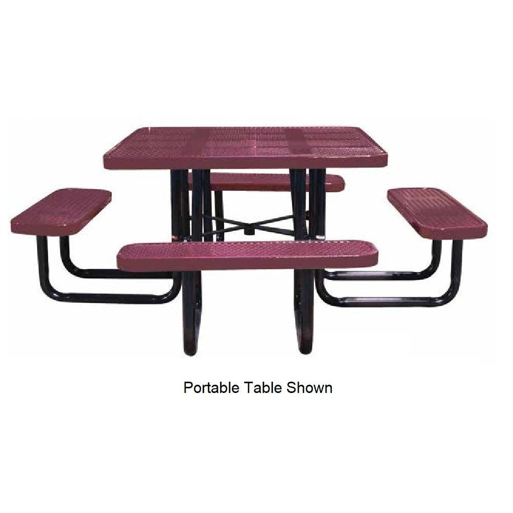 46˝ Square Perforated Portable Table