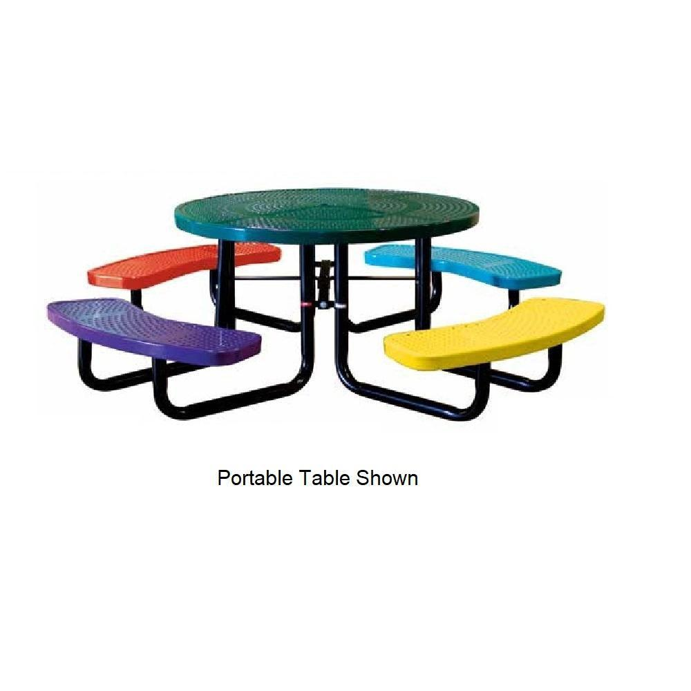 46˝ Round Children's Perforated Table, Surface Mount