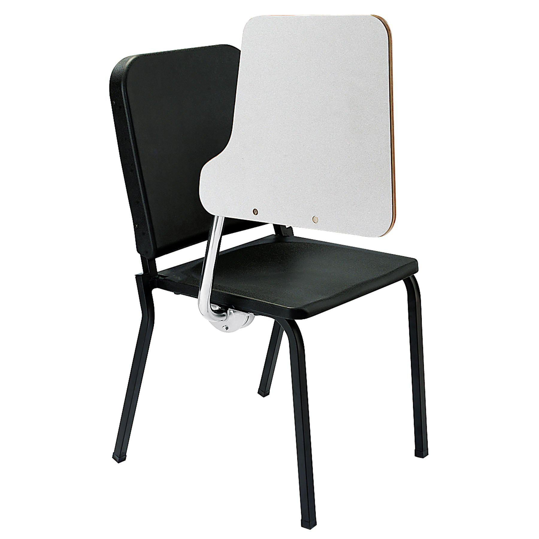 Melody Music Stack Chair With Black Chair and White Tablet Arm-Chairs-Left-
