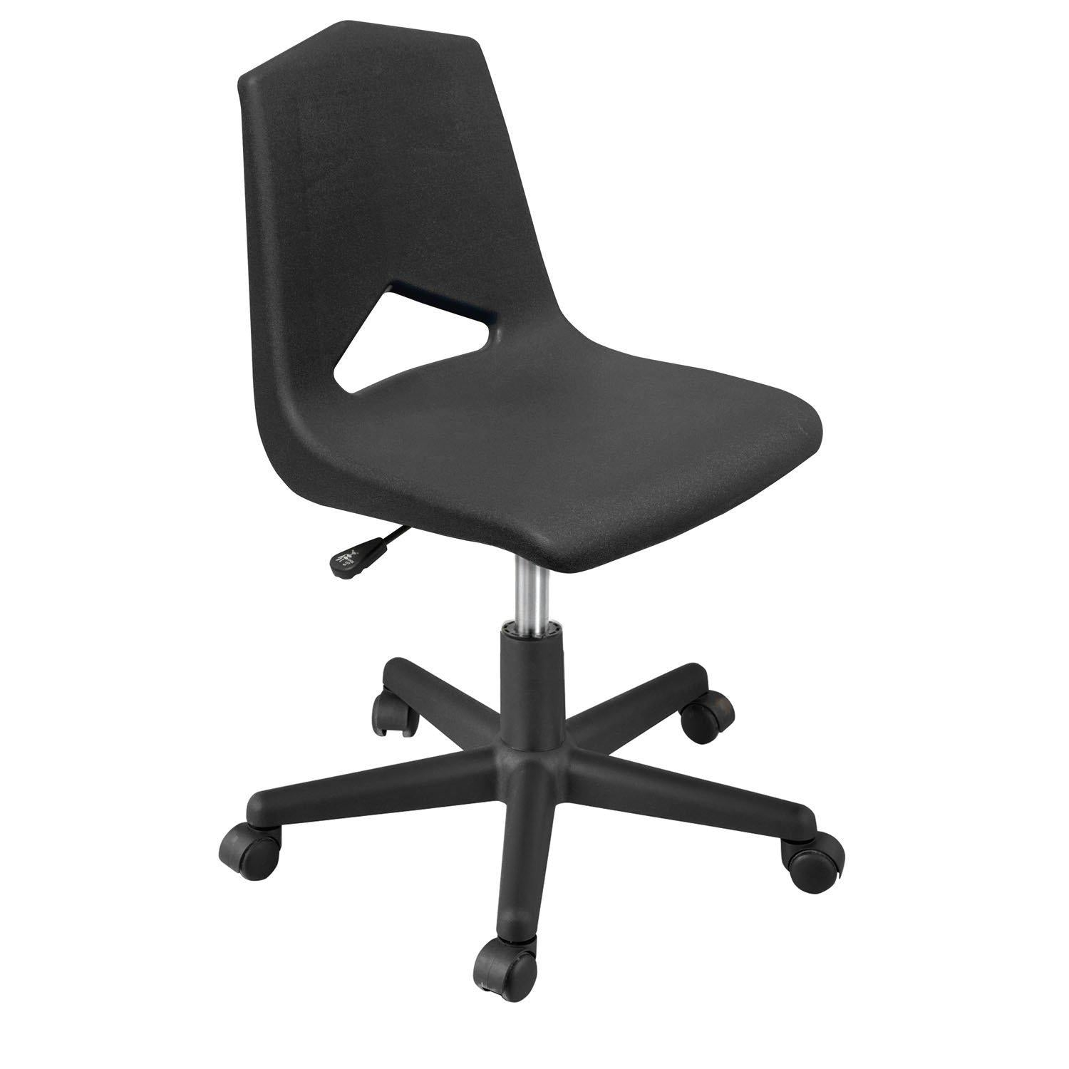 MG1100 Series Gas Lift Task Chair with 5-Star Base-Chairs-Black-
