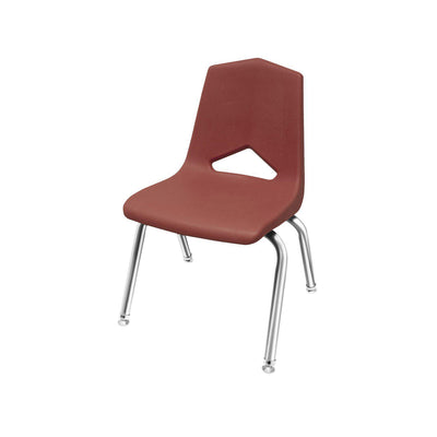"MG1100 Series Stack Chairs-Chairs-14""-Burgundy-Chrome"