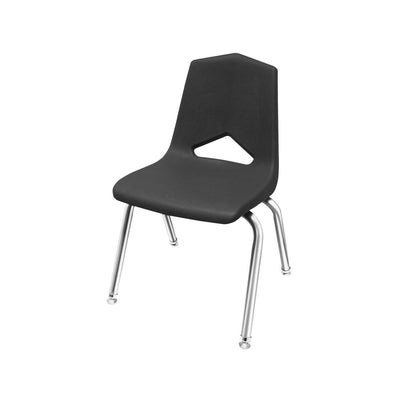 "MG1100 Series Stack Chairs-Chairs-16""-Black-Chrome"