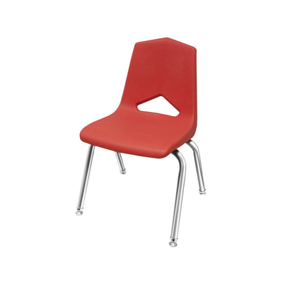 "MG1100 Series Stack Chairs-Chairs-16""-Red-Chrome"
