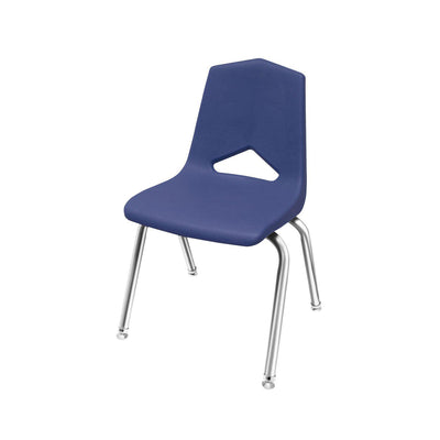 "MG1100 Series Stack Chairs-Chairs-18""-Navy-Chrome"