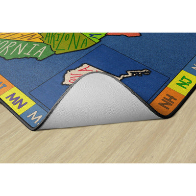 My America Doodle Map Rugs-Classroom Rugs & Carpets-