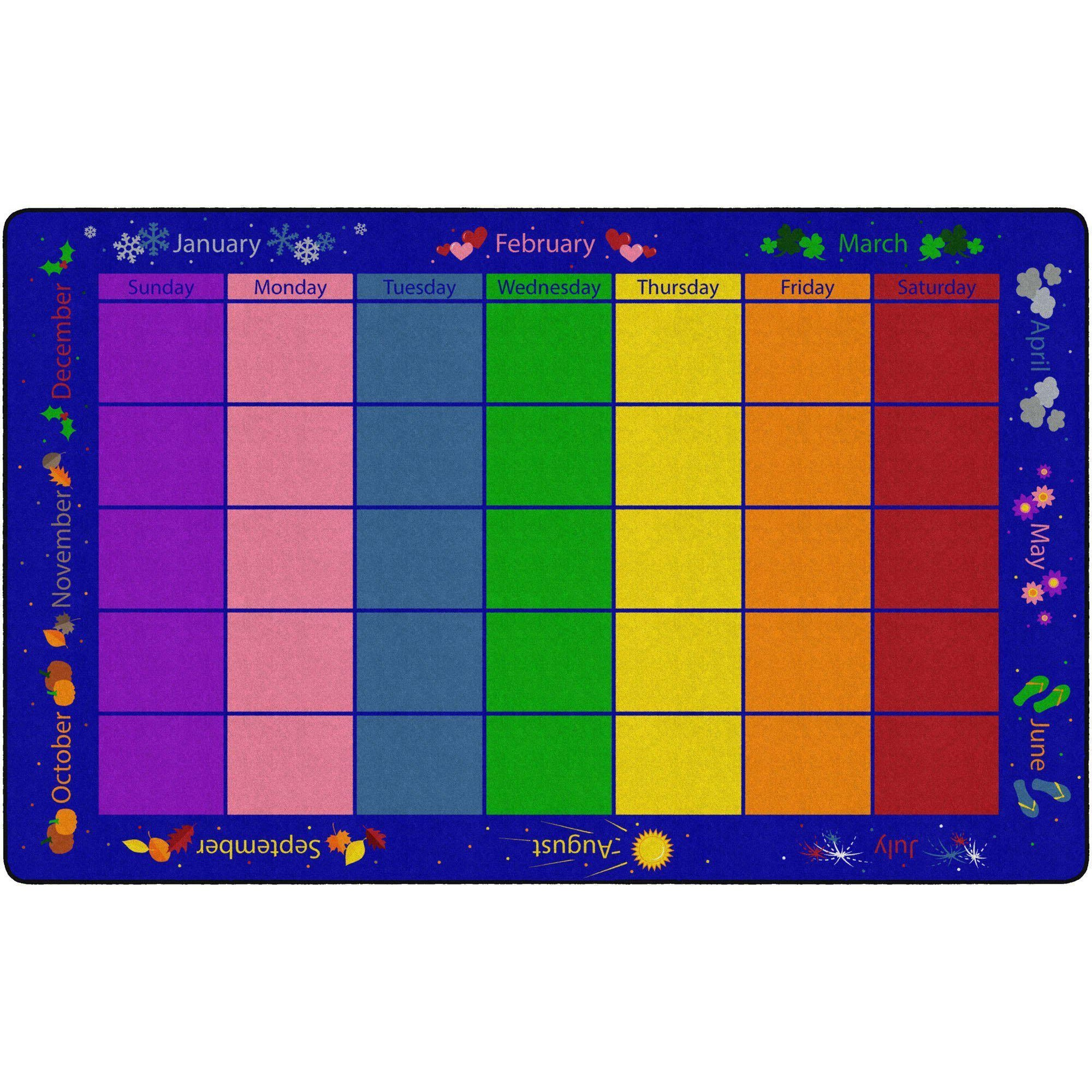My Monthly Calendar Rugs-Classroom Rugs & Carpets-