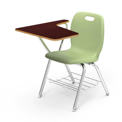 N2 Series Tablet Arm Chair Desk-Chairs-Green Apple-Walnut-