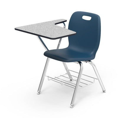 N2 Series Tablet Arm Chair Desk-Chairs-Navy-Grey Nebula-