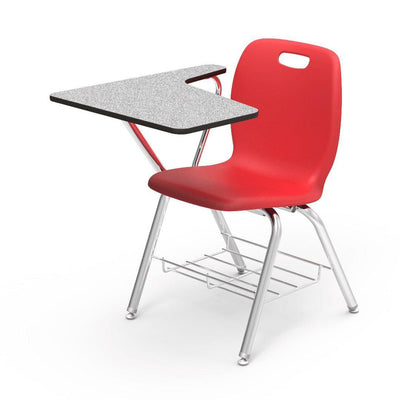 N2 Series Tablet Arm Chair Desk-Chairs-Red-Grey Nebula-
