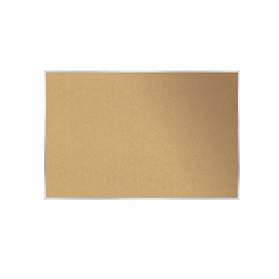 "Natural Cork Bulletin Board with Satin Aluminum Frame-Boards-18""H x 24""W-"