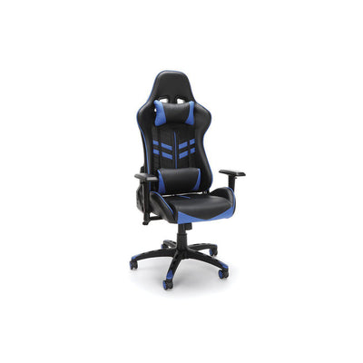 NextGen Leather Deluxe High-Back Gaming Chair-Chairs-Blue-