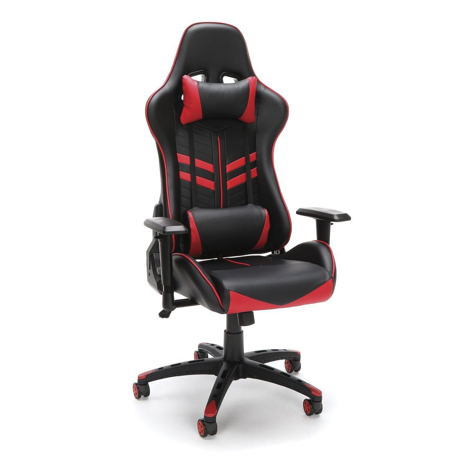 NextGen Leather Deluxe High-Back Gaming Chair-Chairs-Red-