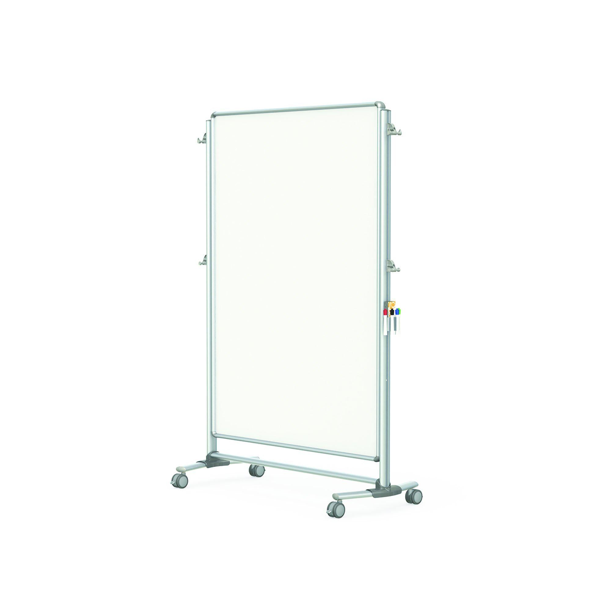 "Nexus Partition, Mobile 2-Sided Porcelain Magnetic Whiteboard, 65""H x 46""W"