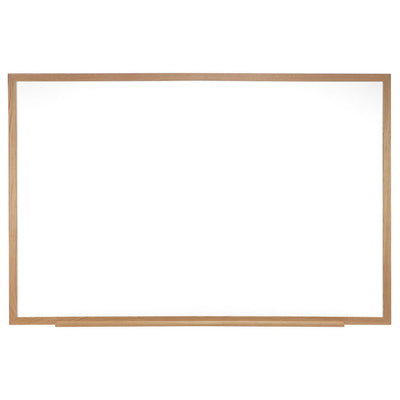 "Non-Magnetic Whiteboard with Oak Wood Frame-Boards-18""H x 24""W-"