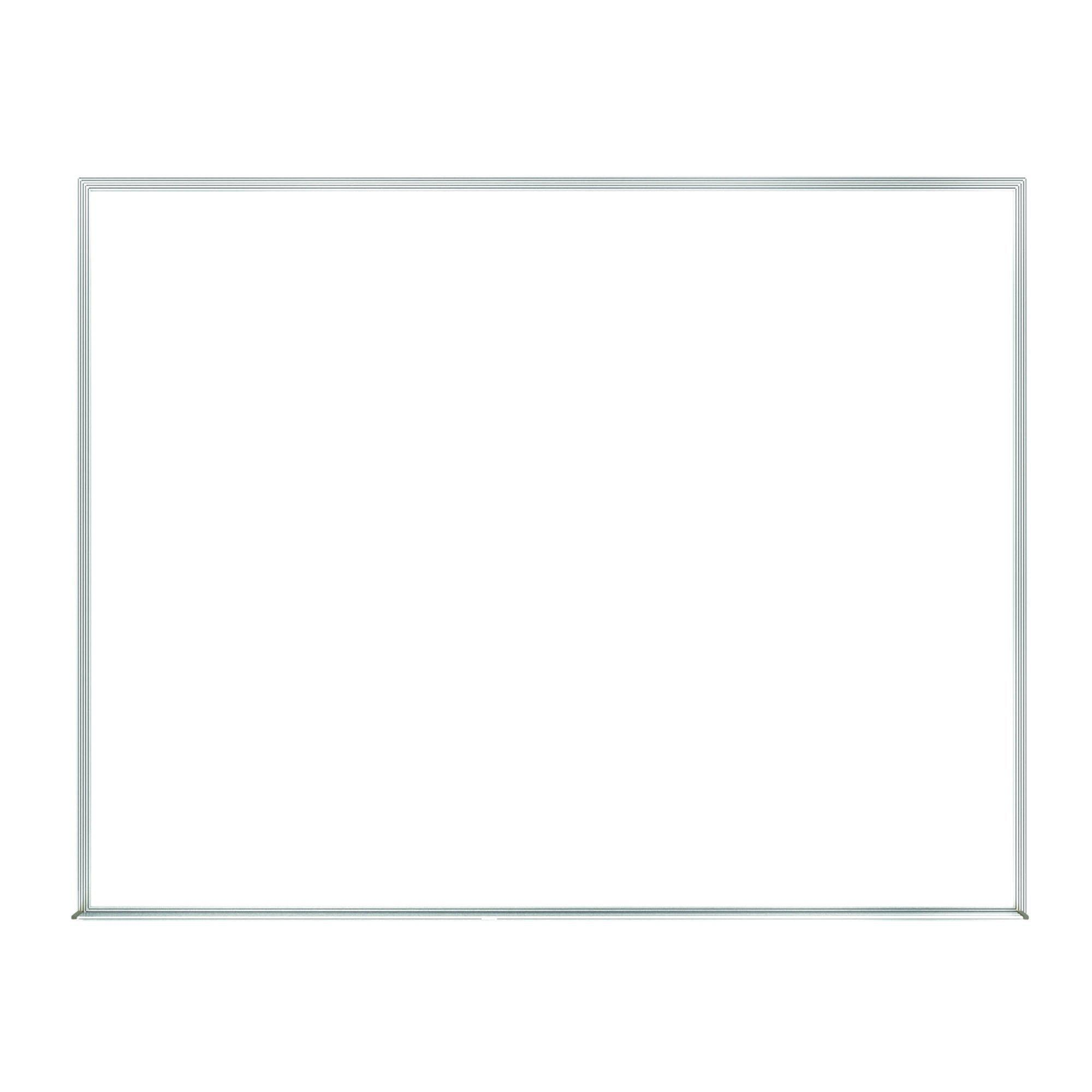 Non-Magnetic Whiteboard with Satin Aluminum Frame-Boards-