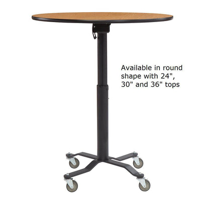 NPS Café Time II Table, Premium High Pressure Laminate Top with MDF Core, ProtectEdge, Textured Black Frame-Tables-