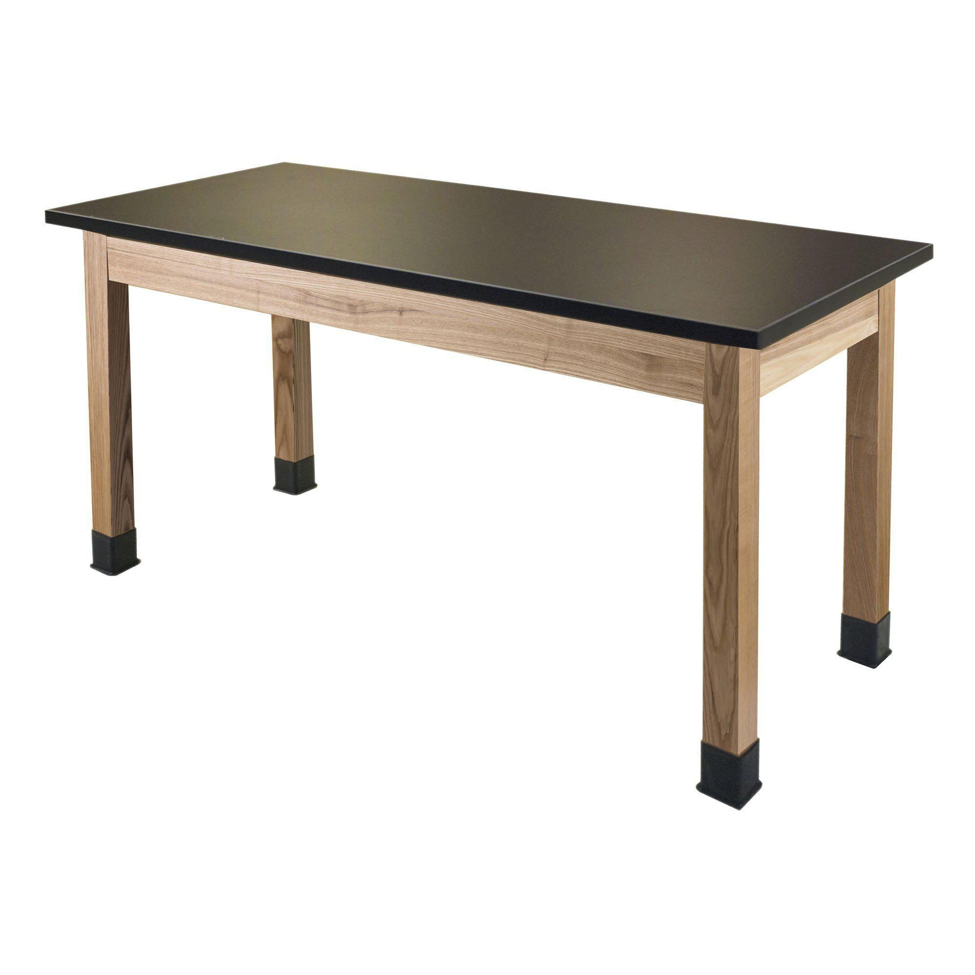 Chemical Resistant Science Lab Tables with Chem Res High Pressure Laminate Top, Solid Wood Legs