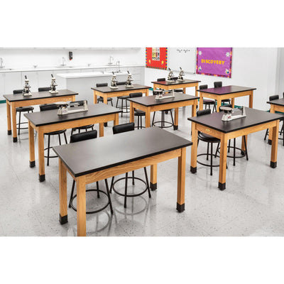 NPS Chemical Resistant Science Lab Tables with Chem Res High Pressure Laminate Top, Solid Wood Legs-Science & Lab Furniture-