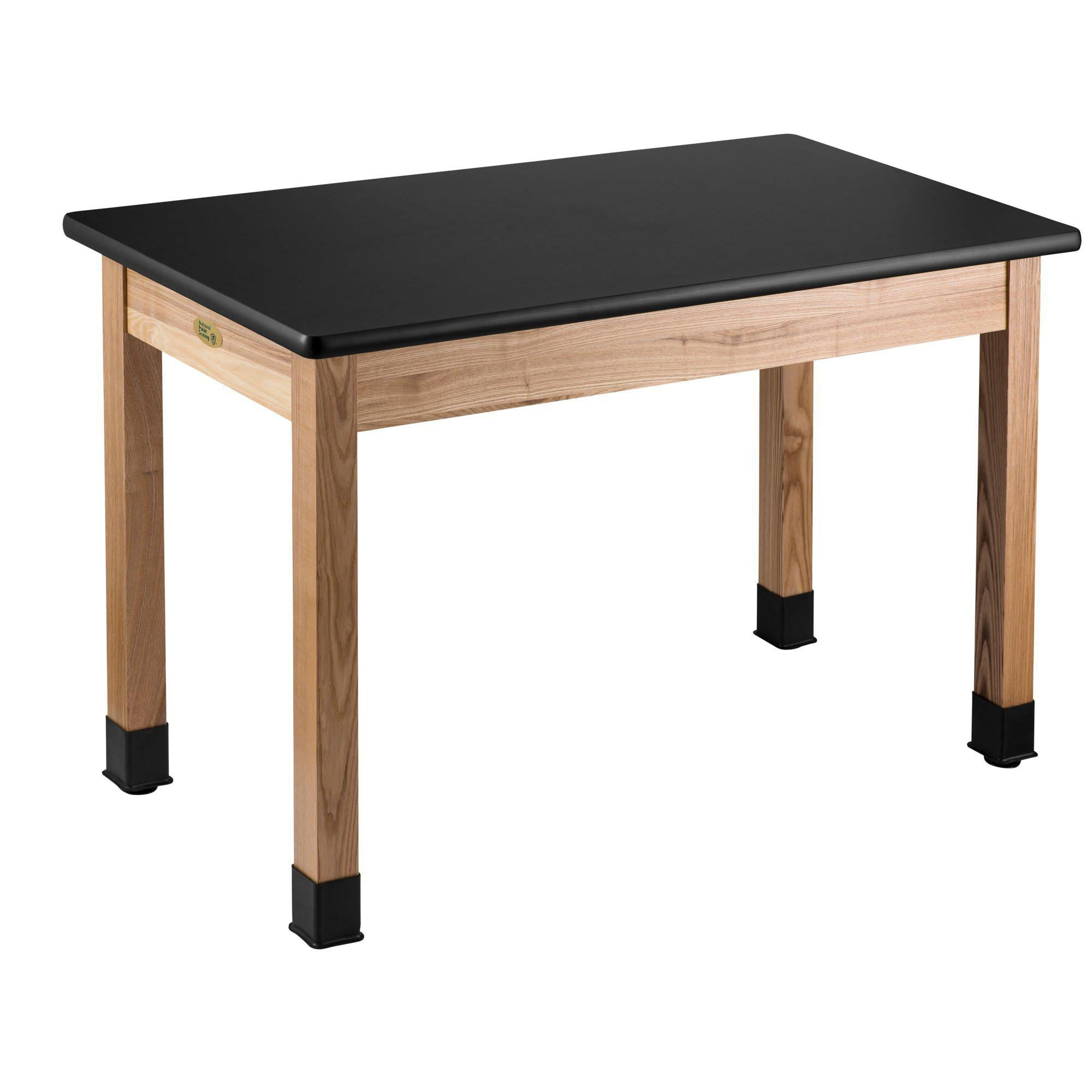 Science Lab Tables with Solid Wood Legs, High Pressure Laminate Top