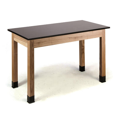 "NPS Superior Science Lab Tables with Phenolic Top, Solid Wood Legs-Science & Lab Furniture-30""-24"" x 48""-Solid Front Apron"