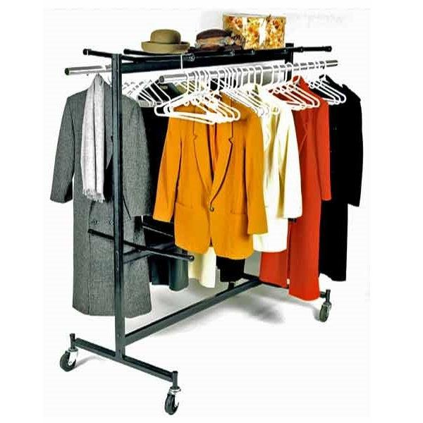 Double-Sided Mobile Coat Rack